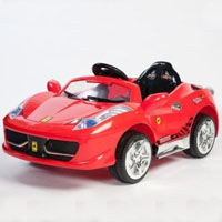 Brand New Double Engine Ferrari Italia Style Power Wheel Racer