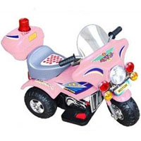 Pink Battery Power Motorbike