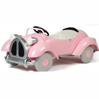 Brand New Pink Speedster Metal Pedal Car