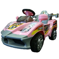 Kids Ride On Pink Power Racer