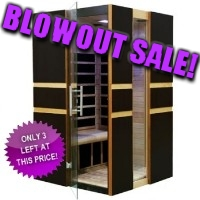 2 Person Infrared Sauna w/ 8 Carbon Tech Heaters