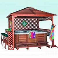 Aztec Hot Tub Gazebo