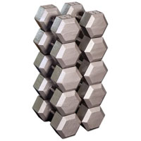 Hex Dumbbell Set — 55 to 75 Lbs.