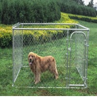 Dog Kennel 7 1/2' x 7 1/2' x 6' Box Kennel Chain Link Dog / Pet System