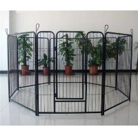 "Pet Playpen Black 8 Panel 40"" Heavy Duty Dog Exercise Pen Cat Fence"
