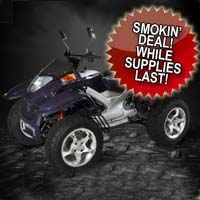 260cc Four Stroke Automatic Four Wheeler ATV (2007 Model Overstock, New in Crate!)
