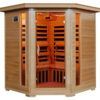 Tucson 4-5 Person Infrared Sauna with Carbon Heaters - Corner Unit