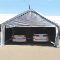 Grey 20' x 20' Heavy Duty Outdoor Canopy Carport