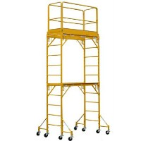 Brand New Heavy Duty 12' H Scaffold Rolling Tower with Guardrail