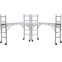"Brand New Heavy Duty Set of Two 6' X 29"" All Aluminum Mobile Rolling Scaffolding"