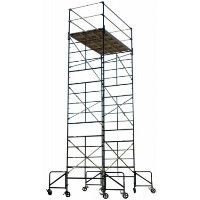 "Brand New Heavy Duty 5'x10'x20'8""  Rolling Scaffolding Tower w/ Guard Rail & Outriggers"