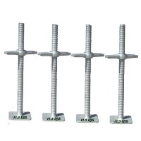"Brand New Heavy Duty Set of 100 24"" Galvanized Scaffolding Screw Jacks w/ Base Plates"