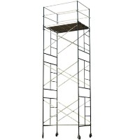 "Brand New Heavy Duty 5' X 7' X 20'7"" Scaffolding Rolling Tower w/ Guardrail"
