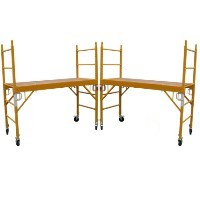 "Brand New Heavy Duty Set of Two 6'H x29"" Scaffolding Rolling Towers w/ U Lock Brace System"