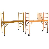 "Brand New Heavy Duty Set of Two 6'H x29"" Scaffolding Rolling Towers w/ U Lock & 1 Hatch Deck"