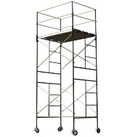 Brand New Heavy Duty 17' H Scaffold Rolling Tower with 2 Hatch Deck & Outrigger