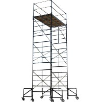 "Brand New Heavy Duty 5'W x 7'L x 20'8""H Rolling Scaffolding Tower w/ Outriggers"