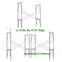 "Brand New Set of Four Snap-On 3' X 10'8"" X 10' Apartment Scaffolding Frames"