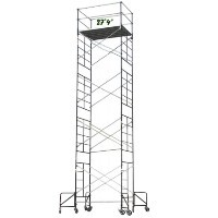 "Brand New Heavy Duty 5' X 7' X 27'4"" Scaffolding Rolling Tower w/ Guardrail"