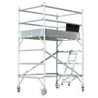 "Brand New Heavy Duty 6'H x 6'L x 29""W Scaffolding Rolling Tower with Hatch Deck"