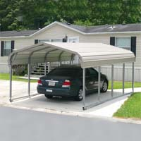 12' x 21' x 5' Standard Eco-Friendly Steel Carport - Installation Included