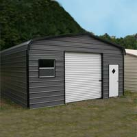 18' x 26' x 9' Standard Eco-Friendly Steel Carport Garage - Installation Included