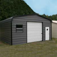 18' x 26' x 9' Standard Eco-Friendly Steel Carport Garage - Installation Included