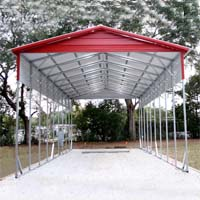 18' x 41' x 12' Vertical Roof Eco-Friendly Steel Carport - Installation Included