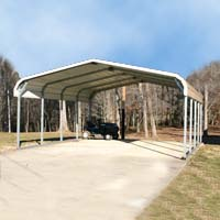 20' x 21' x 8' Steel Carport Garage Storage Building - Installation Included