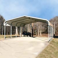 20' x 21' x 8' Steel Carport Garage Storage Building - Installation Included