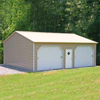 20' x 26' x 10' Vertical Roof Eco-Friendly Steel Carport Garage - Installation Included