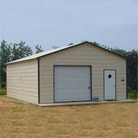 20' x 26' x 9' Boxed Eave Eco-Friendly Steel Carport Garage - Installation Included