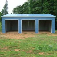 22' x 36' x 12' Vertical Roof Eco-Friendly Steel Carport Garage - Installation Included