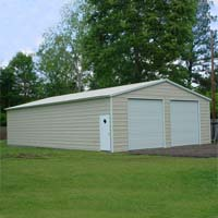 28' x 46' x 10' Vertical Roof Eco-Friendly Steel Carport Garage - Installation Included