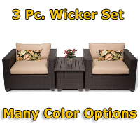 Brand New 2014 Premium 3 Piece Outdoor Wicker Patio Furniture Set