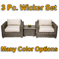 Brand New 2014 Regal 3 Piece Outdoor Wicker Patio Furniture Set
