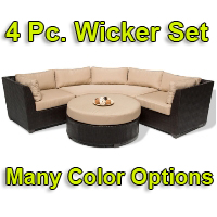Brand New 2014 Beach 4 Piece Outdoor Wicker Patio Furniture Set