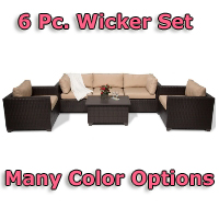 Brand New 2014 Premium 6 Piece Outdoor Wicker Patio Furniture Set