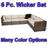 Brand New 2014 Regal 6 Piece Outdoor Wicker Patio Furniture Set