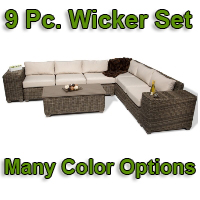Brand New 2014 Regal 9 Piece Outdoor Wicker Patio Furniture Set