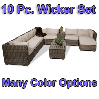 Brand New 2014 Regal 10 Piece Outdoor Wicker Patio Furniture Set