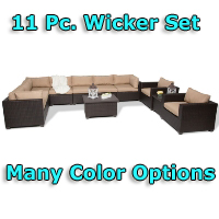 Brand New 2014 Premium 11 Piece Outdoor Wicker Patio Furniture Set