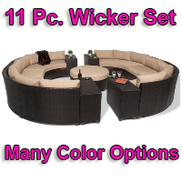 Brand New 2014 Beach 11 Piece Outdoor Wicker Patio