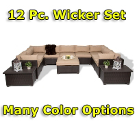 Brand New 2014 Premium 12 Piece Outdoor Wicker Patio Furniture Set