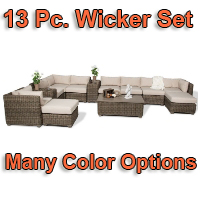 Brand New 2014 Regal 13 Piece Outdoor Wicker Patio Furniture Set