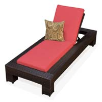 Red Spice Outdoor Tropic Wicker Patio Chaise Lounge