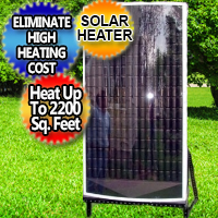 Solar Air Heater Furnace Eco 20,000 BTU - Super Efficient Heat