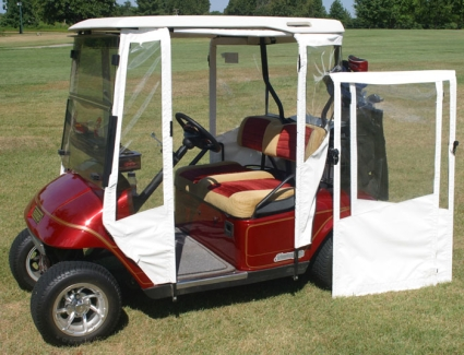 Brand new vinyl ez go txt golf cart enclosure for Golf cart garage door prices