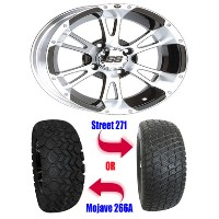 "Brand New 23"" Lifted Golf Cart Tires and 12"" ITP SS112 Wheels Set"