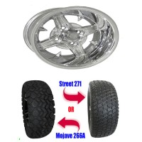 "Brand New 23"" Lifted Golf Cart Tires and 12"" RHOX Impaler Wheels Set"